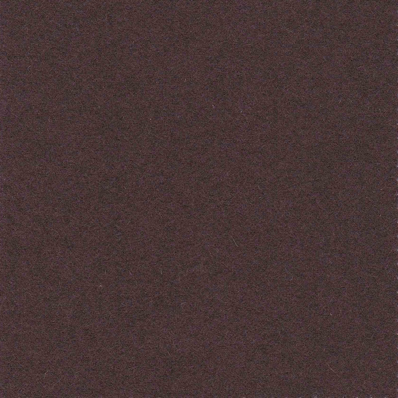 Sample of Burnt Umber from the Olicana Textiles 100% Wool Melton collection